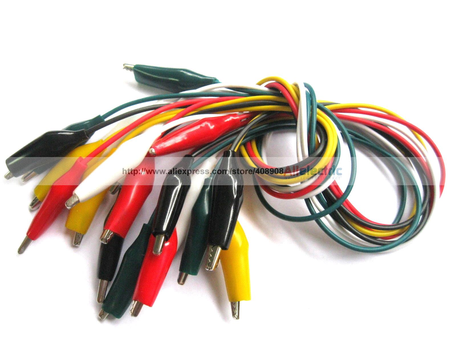 12 Set 60 Pcs 35mm Alligator Test Clip Lead 5 Colors 50cm Long Middle Size <br><br>Aliexpress