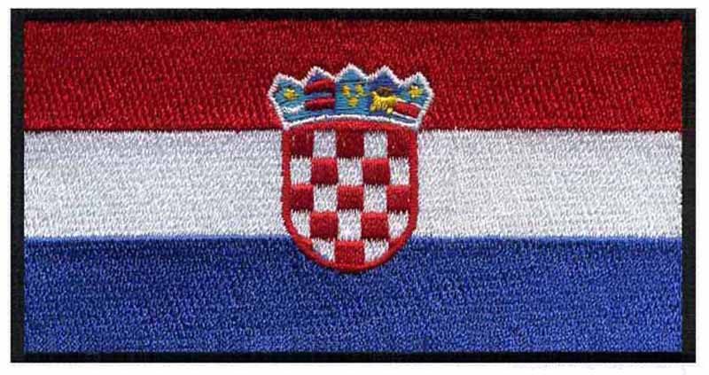 """Croatia iron on embroidery flag patches logos 3"""" wide free shipping/felt/frozen iron on transfers/parches velcro(China (Mainland))"""