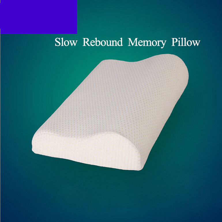 2015 Orthopedic Latex Neck Pillow Fiber Slow Rebound Memory Foam Pillow Cervical Health Care Neck Pillow Free Shipping(China (Mainland))