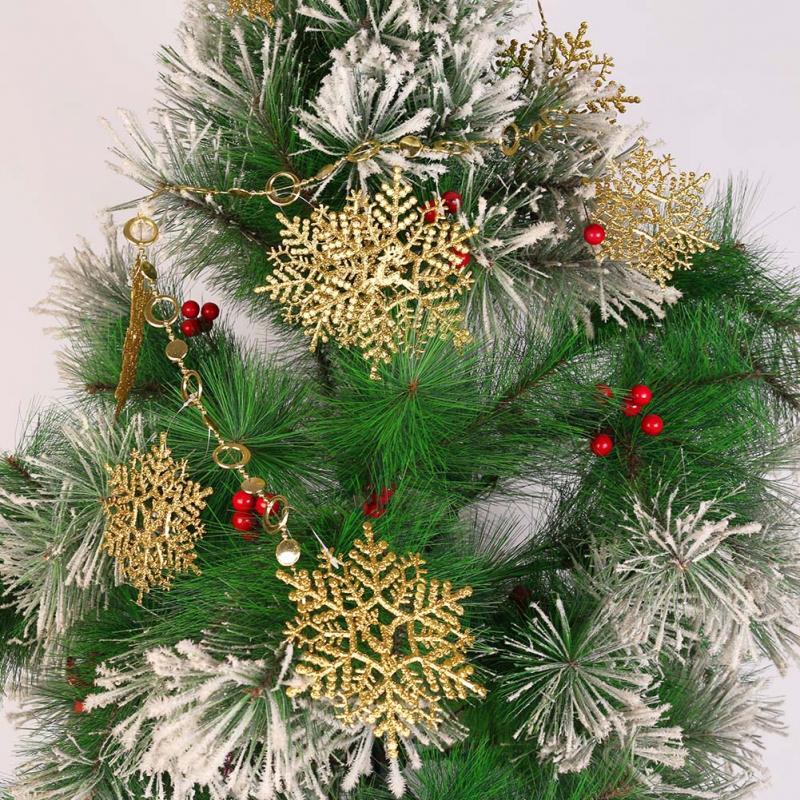 Fashion Snowflake Ornaments Christmas Tree Decorations Home Festival Decor New -OG(China (Mainland))