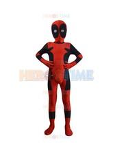 Kids Classic Deadpool Costume Spandex fullbody Halloween Cosplay Child Deadpool Superhero Costume zentai suit