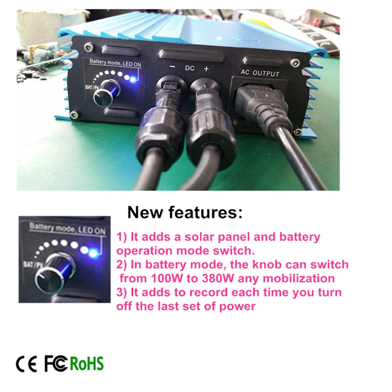 500 Watt Grid tie inverter,24v To AC120V or 230V high efficiency, For Battery Adjustable Power Output(China (Mainland))