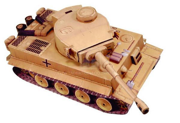 WWII German Tiger Tank military toys 3D paper art paper model(China (Mainland))