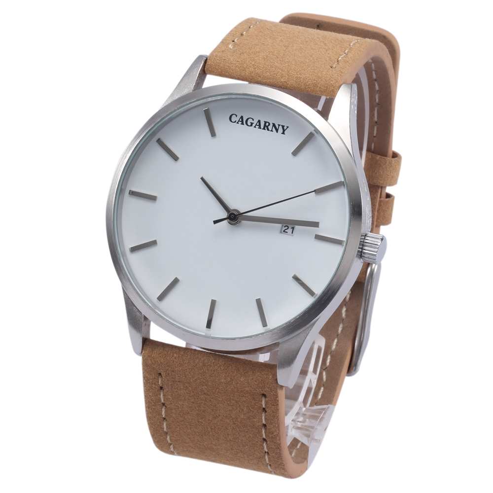 top luxury brand cagarny quartz watches for men watch vogue leather watchband dropshipping (5)