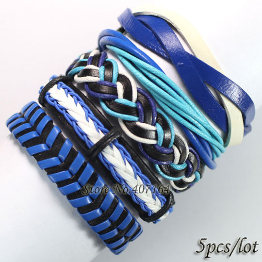 FL55- ()2013 latest fashion casual/sporty blue tribal ethnic bracelet handmade genuine charms gift - SunFlower Trade Co.,Ltd store