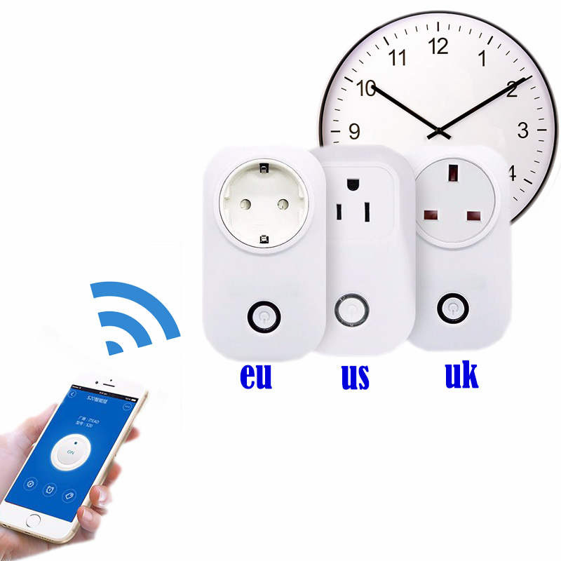 wifi timer socket eu plug Adapter wireless Remote Control smart Home Automation power switch for Android /iphone 220v wall plug