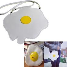 2015 Exclusive Custom Egg Omelette Women Messenger Bags Cartoon Harajuku Samll Omelette Cross Body Coin Wallets Phone Key Cases(China (Mainland))