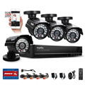 SANNCE 8CH CCTV HDMI DVR 4PCS 900TVL IR Weatherproof Outdoor CCTV Camera Home Security System Video