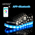 GRITION APP Controled LED Shoes Lighted Dance Shoes Light Up Shoes for Girls Women Luminous Shoes