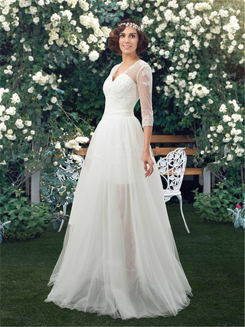 Wedding Dresses With Removable Sleeves 11