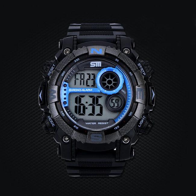 New 2015 SM Brand Men Sports Watches Fashion Digital Military Watch Alarm Swim Multifunctional Clock Relogios Masculinos(China (Mainland))