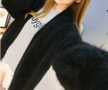 Натуральная норковая кашемировая Толстая теплая куртка настоящий натуральный настоящий свитер кашемир с норкой Роскошная Фабрика оптовая...(China)
