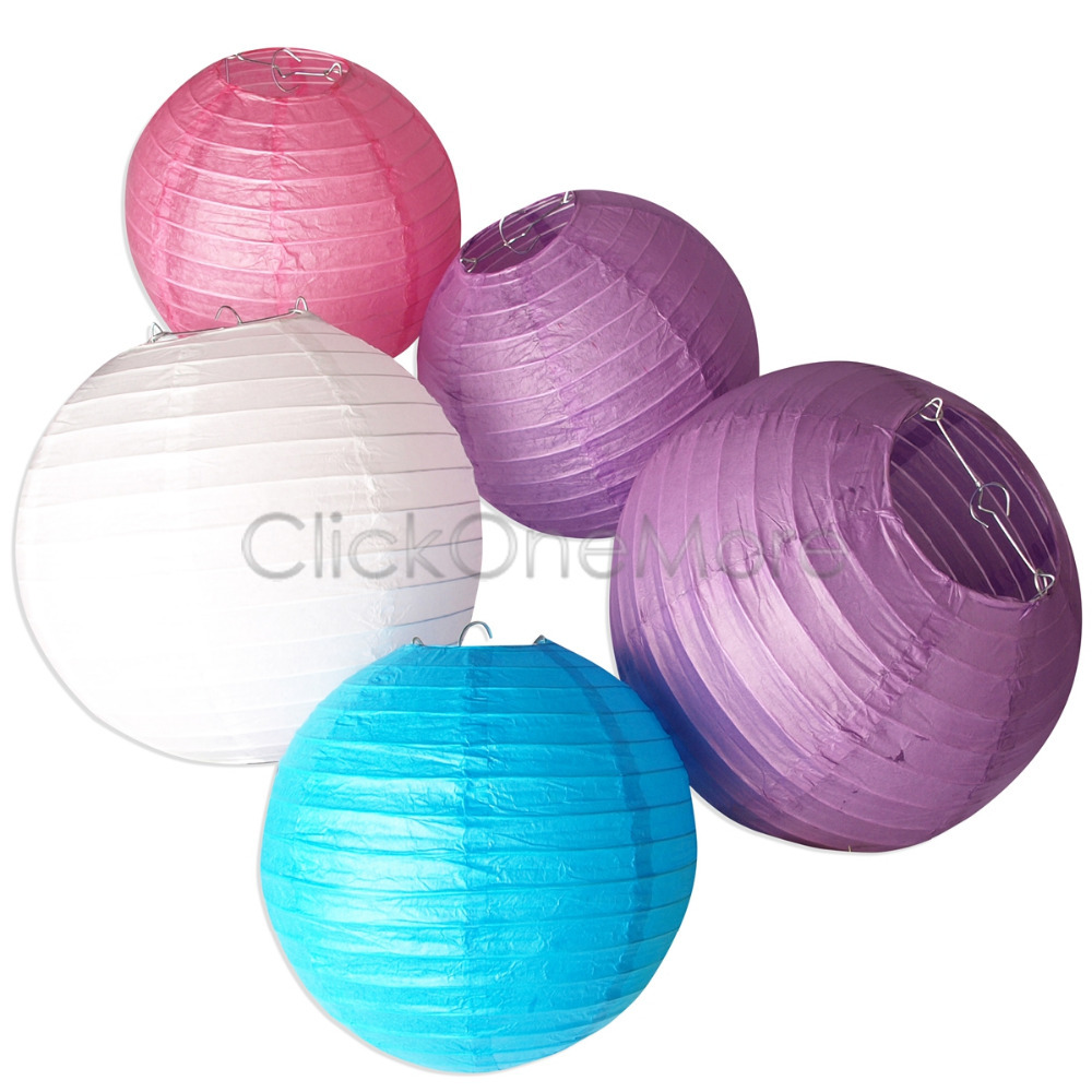 10PCS 20cm Multicolor Chinese Paper Lanterns for Wedding Party Decoration 7310100 7310130(China (Mainland))