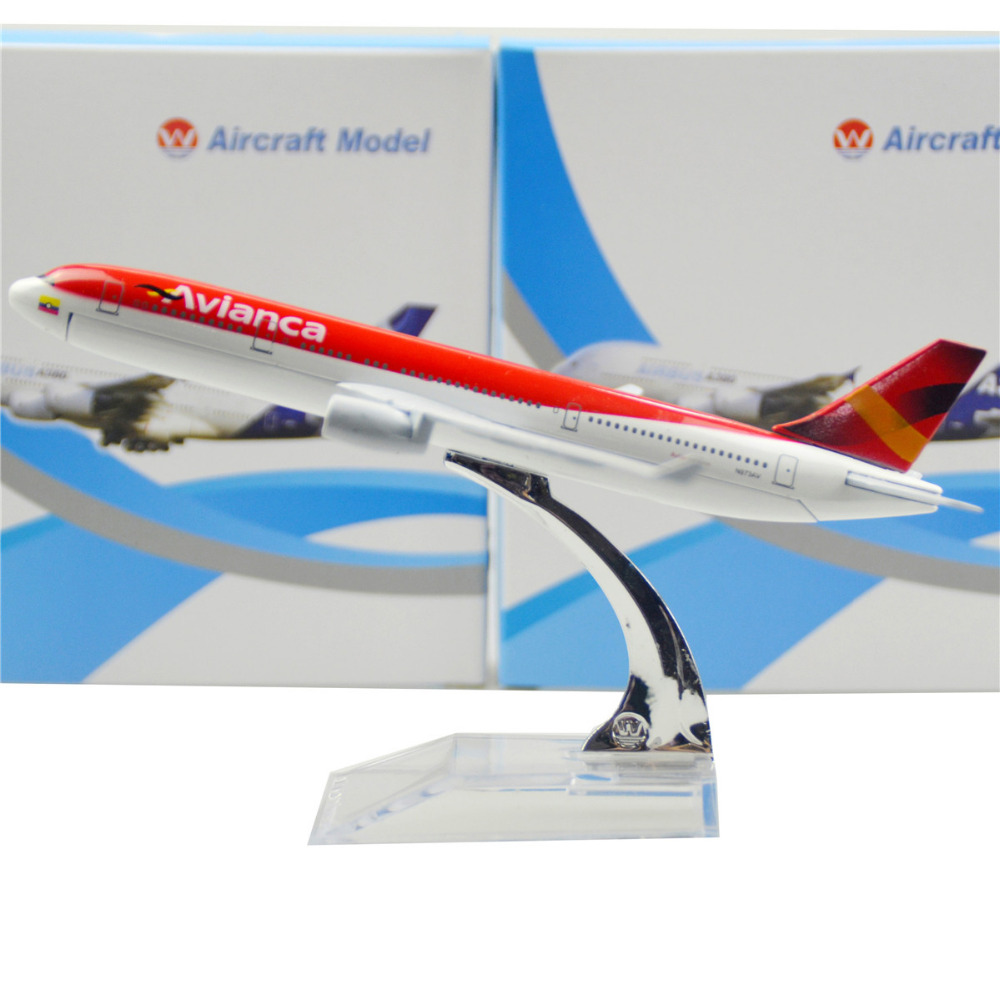 Colombian national airline Airbus 330 16cm airplane child Birthday gift plane models toys Free Shipwping Christmas gift(China (Mainland))