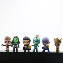 6/8/12/26 pcs Crianças Brinquedos The Avengers Marvel Superheros Mini PVC Figuras de Ação Set Spiderman Q Versão do capitão Hulk Superman(China)
