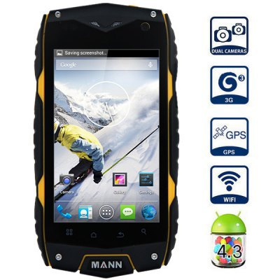 New Arrival Original Mann ZUG3 A18 Dustproof IP68 Waterproof Android GPS WIFI WCDMA 3G rugged smart Phone 4inch screen gray(China (Mainland))