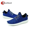 2016 new fashion mans shoes weaving knitting breathable casua lace up four colors star style big