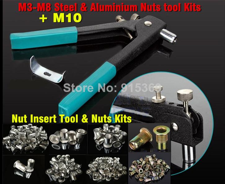 Rivet Nut tool M3 M10 Add 2 120pcs nuts Rivet Nut gun Kits rvnut tool only