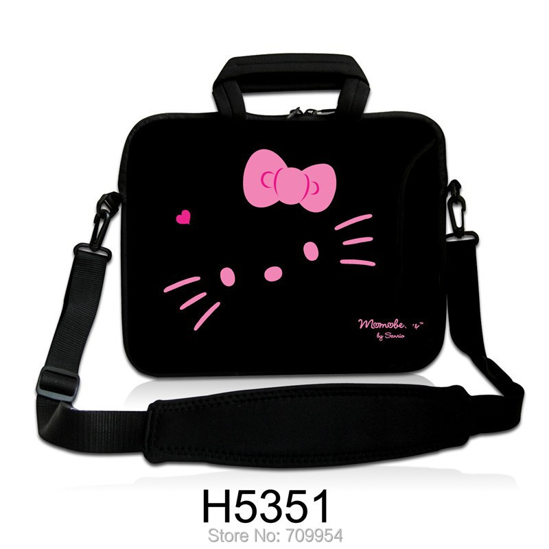 """Cute Hello Kitty Shape Neoprene Handle Laptop Shoulder Bag Cover Notebook Messenger Pouch Case For 10""""13""""14""""15""""17"""" Lenovo Acer(China (Mainland))"""