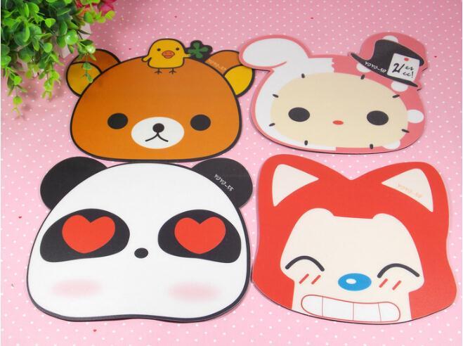 Hot Korean Cartoon Anime Mouse Pad Cute Raccoon Dog Computer Games EVA Mouse Pad(China (Mainland))