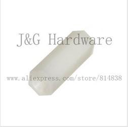 Hex nut / screw M4 x 8 PCB Hexagon Spacer Nylon off white Hex Standoff Pillar Female 500 pieces<br><br>Aliexpress