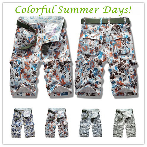 Top Quality! New 2015 Men's Casual Camouflage Cargo Shorts Men fashion Multi-pocket Military Sports outdoor shorts, Size 29~38 - you best choose store