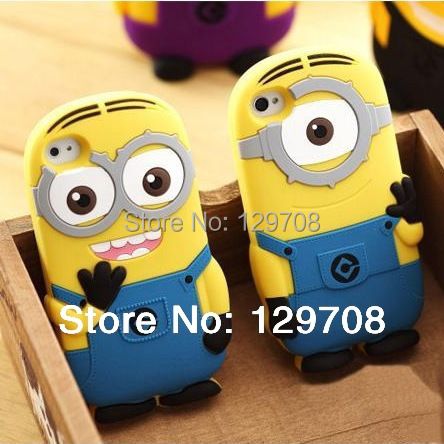iPhone4 4G 4S 5 5S SE 5SE 5C 6 6S 7 Plus Soft Rubber Silicone 3D Cute Cartoon Despicable Minion Back Phone Cover Cases - Huaqiang On Line store
