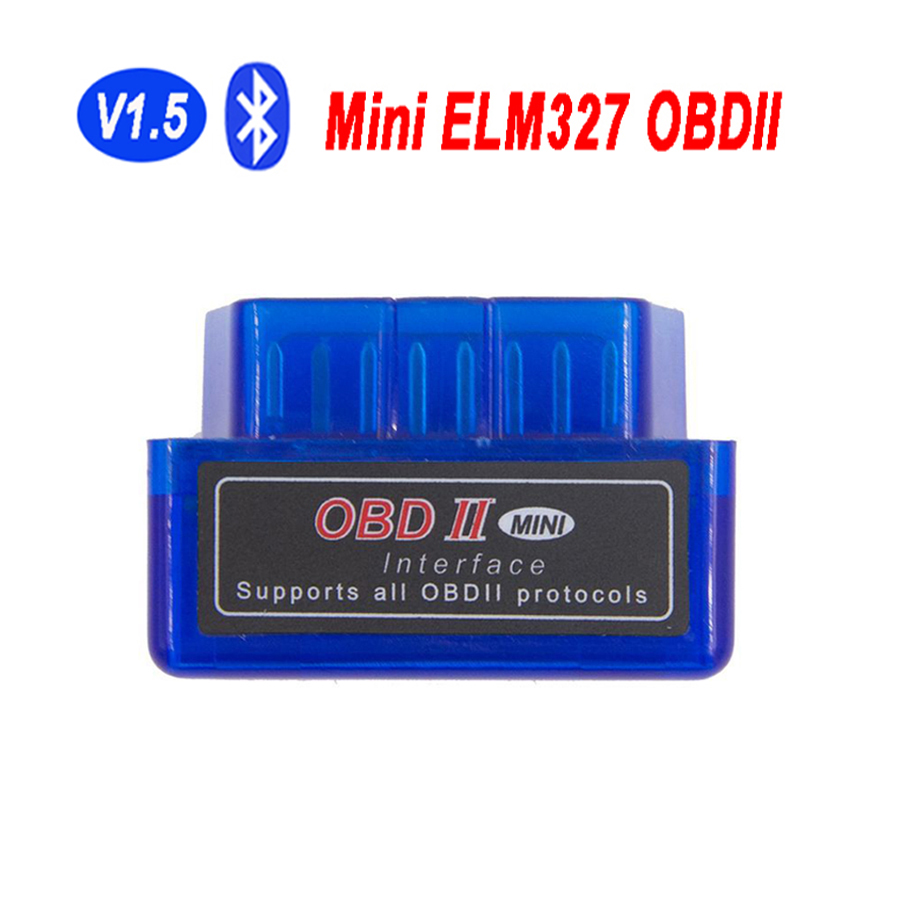 1PC Super Mini OBDII ELM-327 V1.5 Bluetooth Interface ELM327 V 1.5 OBD2 Adapter Scan ELM 327 Auto Scanner OBD 2 Diagnostic Tool(China (Mainland))