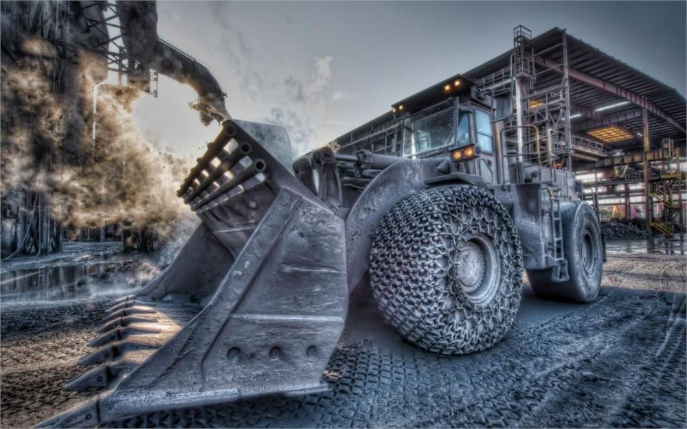 Abstract Trucks vehicles bulldozer hdr picture canvas painting 4 Sizes available print on Silk Fabric Canvas Poster wall decor(China (Mainland))