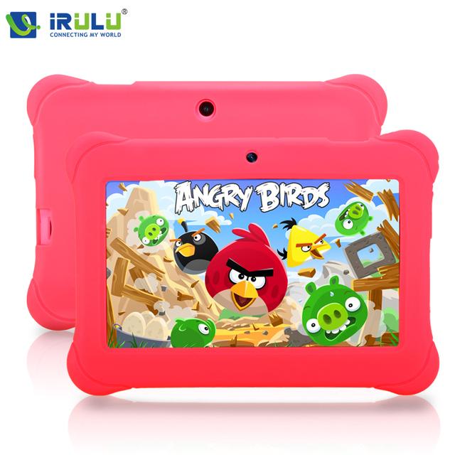 Irulu Y2 7 '' ребенка площадку планшет пк для детей четырехъядерные IPS экран 1024 * 600 две камеры android-4.2.2 8 ГБ Wifi с чехол подарок