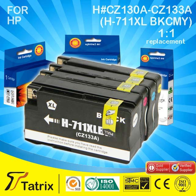New arrival Made in China CZ130A-CZ133A For HP Ink Cartridge,CZ130A Series /H-711XL for HP 711 XL ink cartridge, free shipping(China (Mainland))