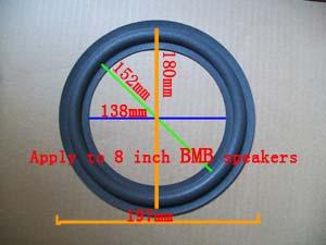 2 pcs 8 inch brand new BMB speaker surround - repair foam:138mm / 152mm / 180mm / 197mm(China (Mainland))