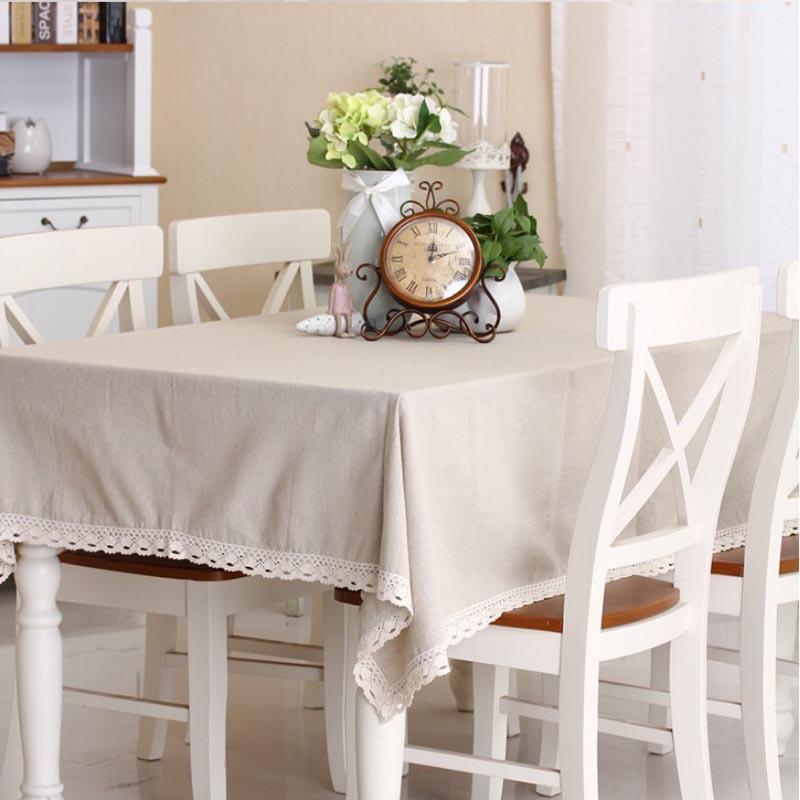 Europe Lace Table Cloth Cover Linen Cotton Tablecloth Sets Manteles Para Mesa Rectangulares Woven Table Cloth Rectangular nappe(China (Mainland))