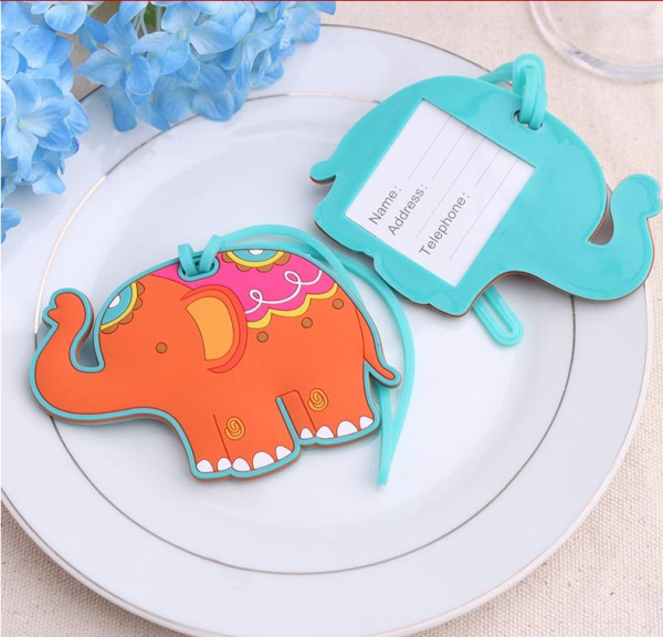 30PCS/LOT High Quality Lucky elephant Luggage Tag baby shower party Favor wedding bridal shower Favor party gifts Free shipping(China (Mainland))