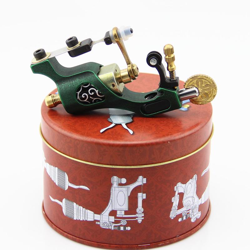 CNC Carved Steel Rotary Tattoo Motor Machine Gun Liner Shader Green(China (Mainland))