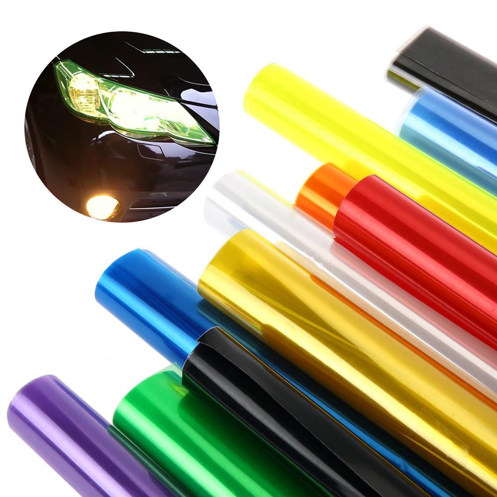 1pcs 100CM*30CM Car Light Sticker Film Glaze 3 Layer Fog Light HeadLight Taillight Tint Vinyl Films Sheet Car Decoration Decals(China (Mainland))
