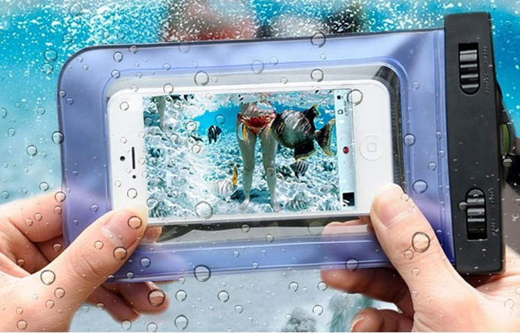 PVC Touch Smart Phone WaterProof Pouch Bag Case Underwater Seal for iPhone Samsung Nokia Watch All Phone with Black Switch(China (Mainland))