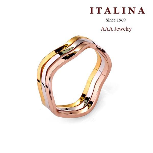 110323 AAA Geometric Three Circles Finger Ring Gold Plated ITALINA Rings Jewelry(China (Mainland))