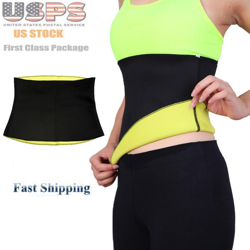 Body Shaper Tummy Trimmer Waist Cincher Shapewear Girdle Corset Slimming Neoprene Belt USA Warehouse Fast Shipping(China (Mainland))