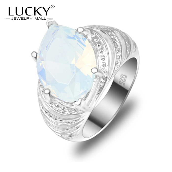 Unique Style 100% Hand made Classical Moonstone Crystal Silver Ring For Women Best Gift Bijoux R0269(China (Mainland))