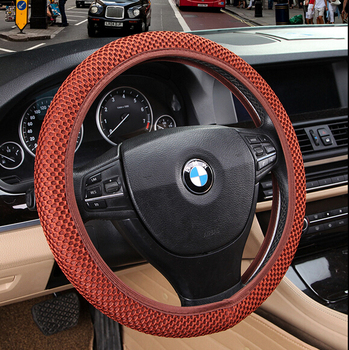 Sandwich Fabric Handmade Steering Wheel Cover Breathability Skidproof Universal Fits Most Car Styling Steering Wheel