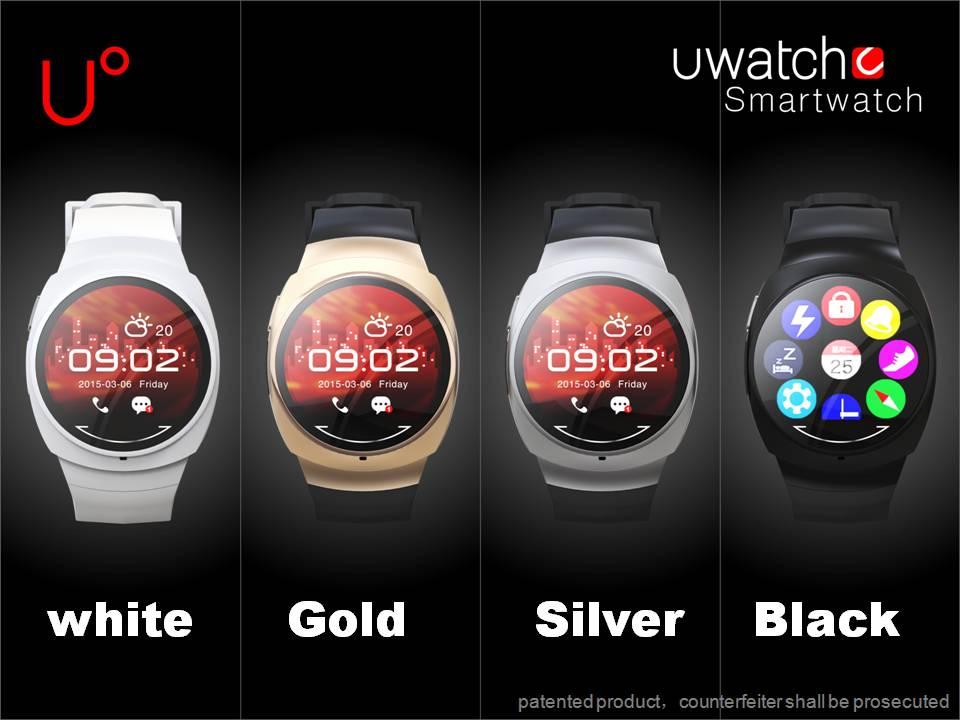 """Původní U WATCH UO 1,3 """"Bluetooth 4.0 MTK2501 Vodotěsné Inteligentní hodinky Podpora infračervené dálkové ovládání Smartphone Multifunkční"""