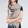 ZA winter scarf 2016 Tartan Scarf women desigual Plaid Scarf cuadros Brand Designer Acrylic Tassels Shawls