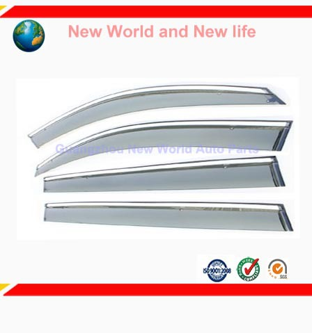 Free Shipping Car window sticker Awnings & Shelters Exterior cover decoration products accessory fit for VW Touran Silver 4PCS
