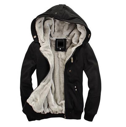 Thick black hoodie