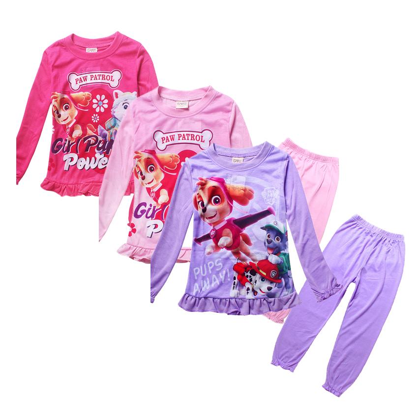 Pajamas kids cute dog sleepwear girls nightgown pyjama enfant children clothing set little girls pajamas pijamas
