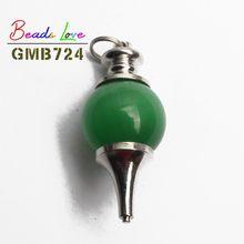 18x41mm Natural Pendulum Cone Stone Pendant Turquoises Cat Eye Opal Tiger Eye Strawberry Quartz Agata Lucky Beads Diy Necklace(China)