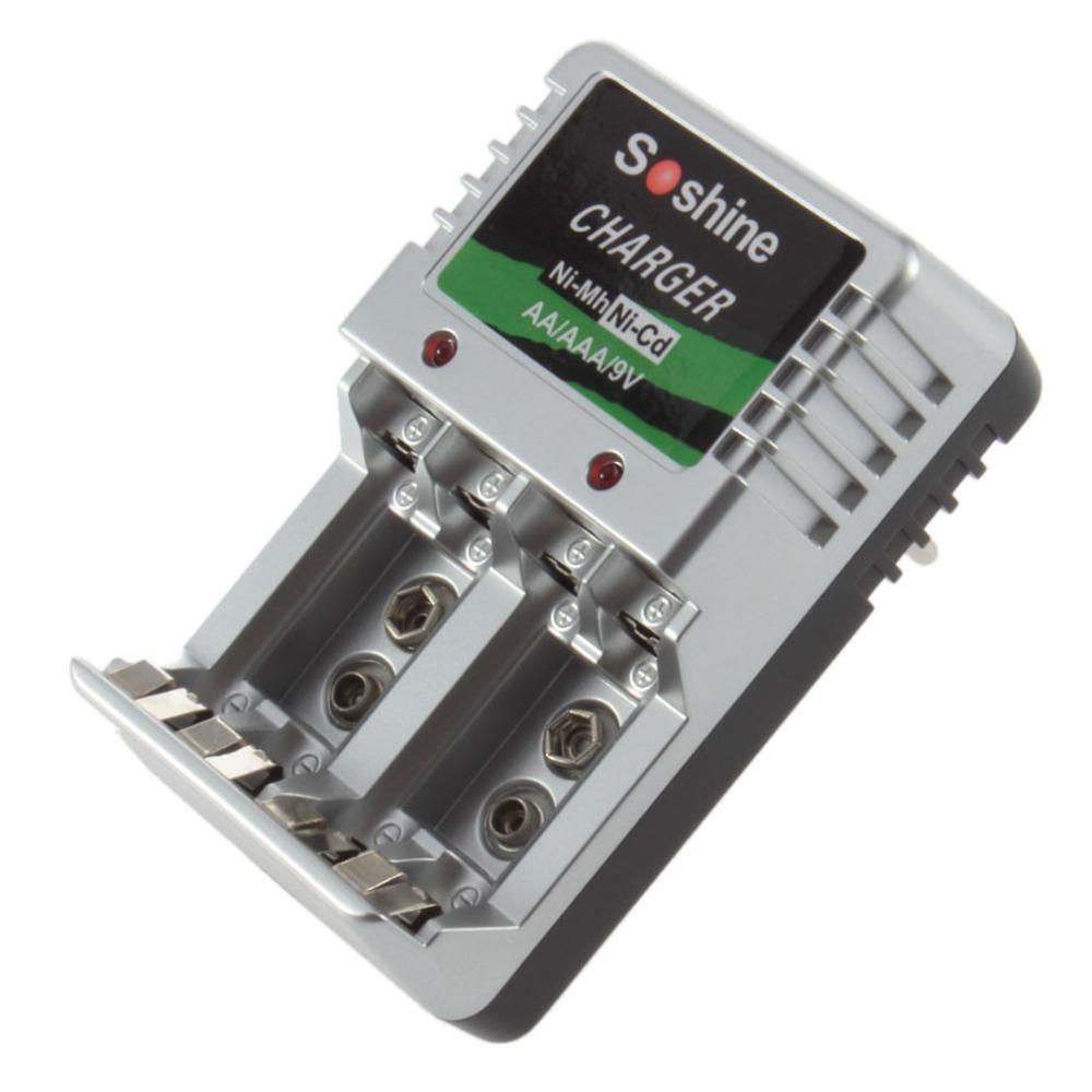EU Plug Standard Charger 4 AA/AAA/9V/Ni-M?h/Ni-Cd Rechargeable Battery Batteries(China (Mainland))