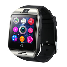 Nuevo Q18 Pasómetro Reloj Inteligente con Pantalla Táctil de La Cámara TF Sync SMS tarjeta MP3 Bluetooth Smartwatch para Android IOS Teléfono T30