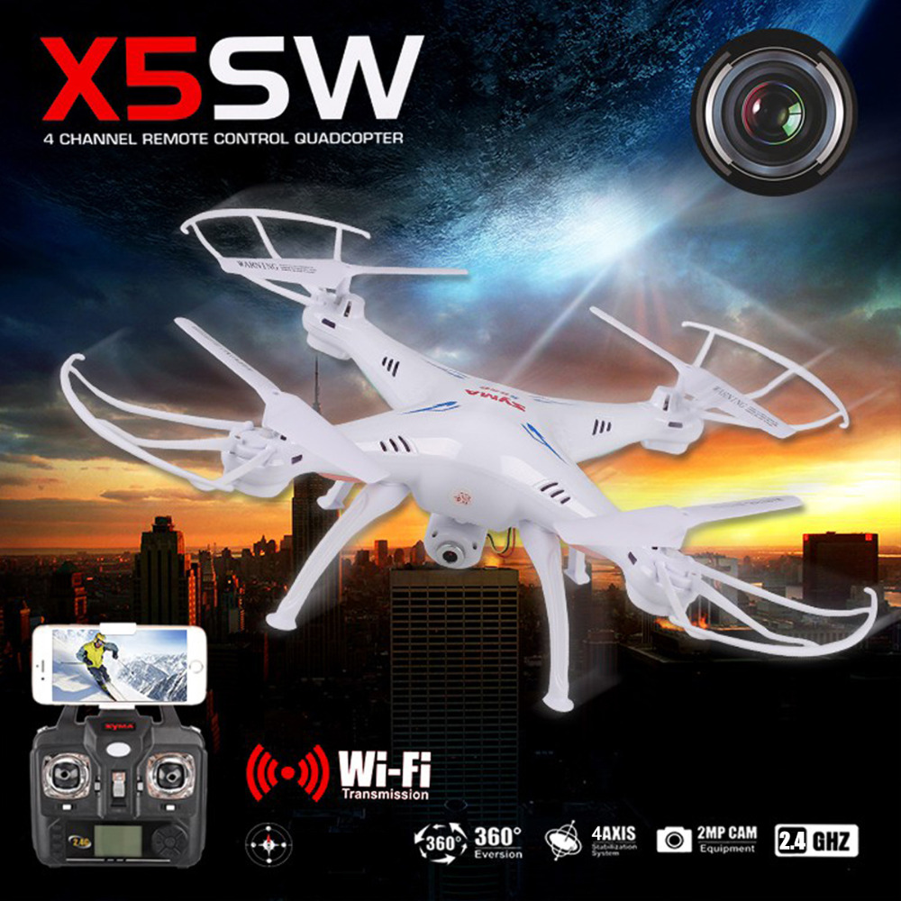 Syma X5SW 2 4GHz 4 Axis Aircraft Gyro RC Quadcopter Drone Helicopter HD Camera Support IOS